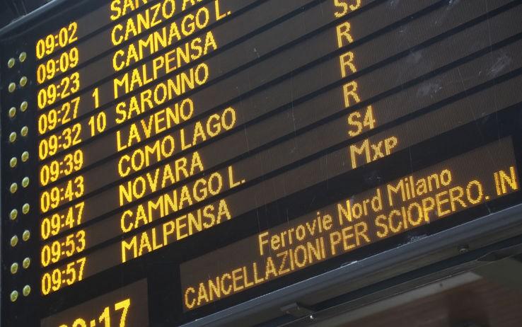 Sciopero treni, autobus, metro Torino, Milano Trenord 11 ...