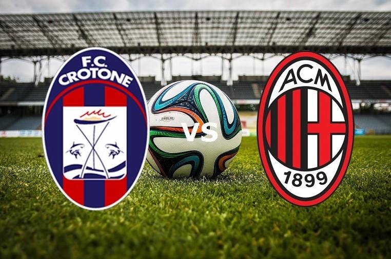 Crotone Milan streaming live gratis su s