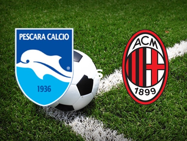 Streaming Pescara Milan gratis live su s