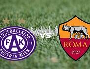 Austria Vienna Roma streaming live gratis link migliori, siti web. Dove vedere