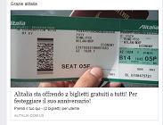 bufala biglietti gratis alitalia