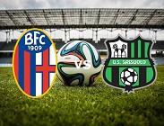 Bologna Sassuolo streaming live gratis link, siti web. Dove vedere