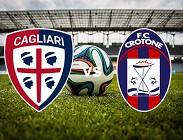 Cagliari Crotone streaming live gratis link, siti web. Dove vedere