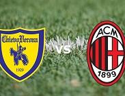 Chievo Milan streaming. Dove vedere