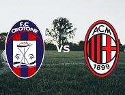 Crotone Milan live streaming in diretta