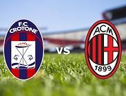 Crotone Milan diretta live streaming