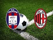 Crotone Milan streaming orario inizio