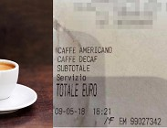 Il conto di un bar romano