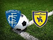 Empoli Chievo streaming live gratis link, siti web. Dove vedere