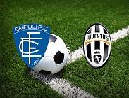 Empoli Juventus streaming siti web. Dove vedere gratis
