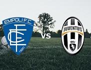 Empoli Juventus streaming per vedere siti web, canali tv, link