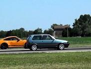 Fiat Uno Turbo, Porsche Cayman S, sfida, velocità