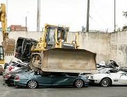 filippine, auto lusse, distrutte, bulldozer