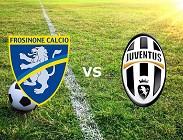 Frosinone Juventus streaming live gratis diretta link, migliori siti web. Dove vedere
