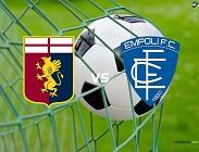 Genoa Empoli streaming gratis live diretta. Link, siti web migliori. Dove vedere e come