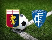 Genoa Empoli streaming gratis live link, siti web. Dove vedere