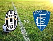 Juventus Empoli streaming gratis live diretta link, siti web. Dove vedere
