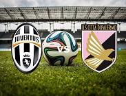 Juventus Palermo in streaming