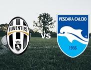 Juventus Pescara streaming live gratis per vedere