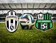 Juventus Sassuolo streaming gratis live link, siti web. Dove vedere