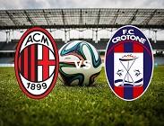 Streaming Milan Crotone diretta live