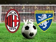 Milan Frosinone streaming gratis live link, siti web. Dove vedere