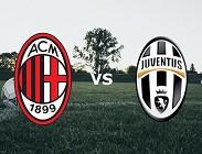 Milan Juventus streaming per vedere su siti web, canali tv, link