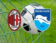 Milan Pescara streaming (IN AGGIORNAMENTO). Siti web, link. Come e dove vedere diretta