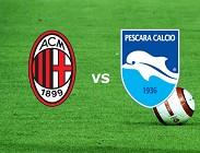 Milan Pescara streaming (IN AGGIORNAMENTO)