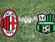 Milan Sassuolo streaming gratis live migliori siti web, link. Dove vedere