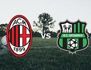 Milan Sassuolo streaming (in aggiornamento)
