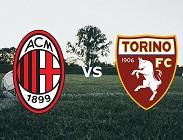 Milan Torino streaming gratis live diretta link, siti web. Dove vedere