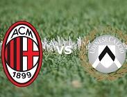 Milan Udinese streaming live gratis. Dove vedere (aggiornamento)