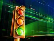 Semaforo rosso, giallo, verde