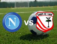 Napoli Carpi streaming gratis live diretta link, siti web. Dove vedere