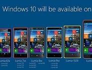 Nokia Lumia 520, 620, 820, 720, 630, 820, 925 Windows 10 Phone. Aggiornamento ufficiale uscita. Link per scaricare e installare