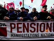 Pensioni novita oggi giovedi