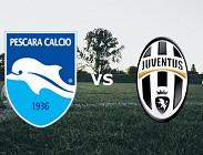 streaming Pescara Juventus