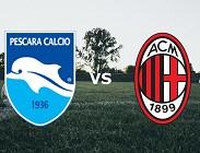 streaming Pescara Milan