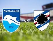 Pescara Sampdoria streaming live gratis migliori siti, link. Dove vedere