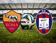 Roma Crotone streaming gratis live. Dove vedere link, siti web