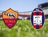 Roma Crotone streaming live gratis. Vedere link, siti web