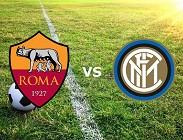 Roma Inter streaming live gratis link, siti web. Dove vedere