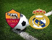 Vedere Roma Real Madrid streaming live gratis. Dove vedere su siti web, link, emittenti tv satelittari