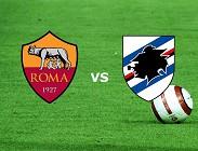 Sampdoria Roma streaming gratis live su siti web, link. Dove vedere