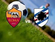 Sampdoria Roma streaming gratis live. Dove vedere su link, siti web