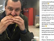 Salvini, McDonalds, panino