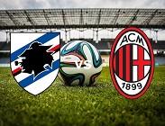 Streaming Sampdoria Milan diretta live gratis