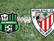 Sassuolo Athletic Bilbao streaming gratis live. Dove vedere