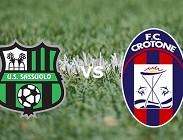 Sassuolo Crotone streaming live gratis link, migliori siti web. Dove vedere